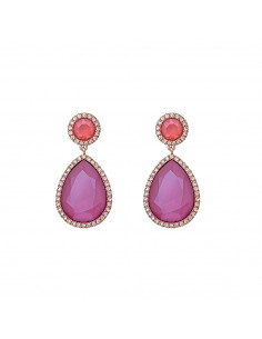 Carlotta earrings - Peony pink