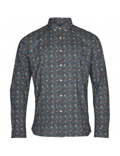 Knowledge Cotton - Art printed shirt