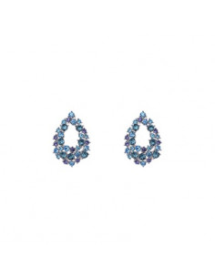 Petite Alice earrings - Ocean blue