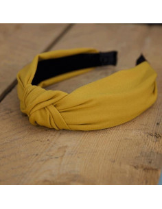 Nadia plain hairband - Mustard