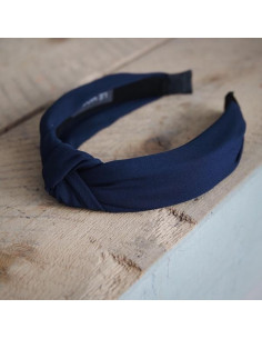 Nadia plain hairband - Navy
