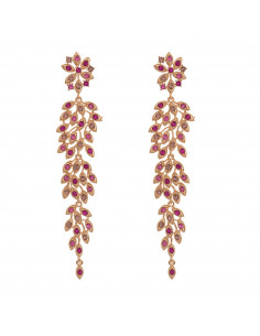Laurel earrings - Rose