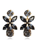 DIONE EARRING GOLD - BLACK PATINA / SILVERNIGHT
