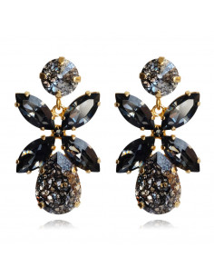 Caroline Svedbom - DIONE EARRING GOLD - BLACK PATINA / SILVERNIGHT