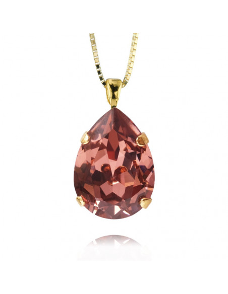 Caroline Svedbom - CLASSIC DROP NECKLACE GOLD - ROSE BLUSH