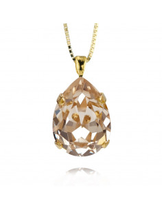 Caroline Svedbom - CLASSIC DROP NECKLACE GOLD - SILK