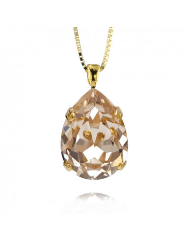 CLASSIC DROP NECKLACE GOLD - SILK