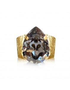 Caroline Svedbom - CLASSIC DROP RING GOLD - BLACK DIAMOND