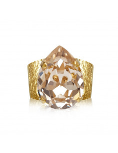 Caroline Svedbom - CLASSIC DROP RING GOLD - SILK