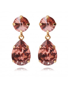 Caroline Svedbom - CLASSIC DROP EARRINGGOLD - ROSE BLUSH