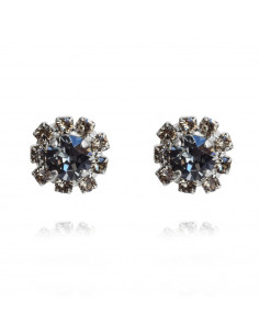 Caroline Svedbom - AELLO EARRING RHODIUM - BLACK DIAMOND / SILVERNIGHT