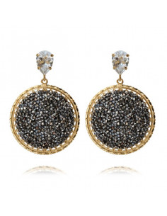 Caroline Svedbom - ALEXANDRA CRYSTAL ROCKS EARRING GOLD - METALLIC LIGHT GOLD