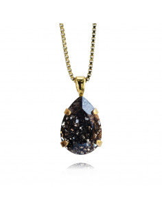 Caroline Svedbom - MINI DROP NECKLACEGOLD - BLACK PATINA