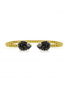 Caroline Svedbom - MINI DROP BRACELETGOLD - BLACK PATINA
