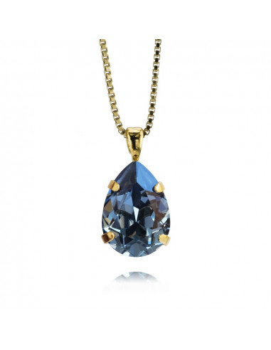 MINI DROP NECKLACEGOLD - DENIM BLUE