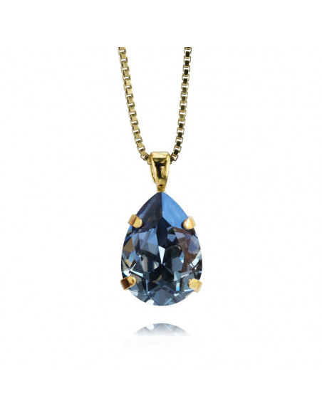 Caroline Svedbom - MINI DROP NECKLACEGOLD - DENIM BLUE