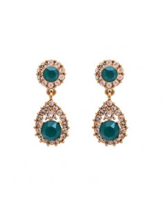Lily & Rose - Sofia earrings - Royal green