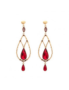 Garbo earrings - Scarlet