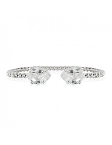 MINI DROP BRACELET RHODIUM - CRYSTAL