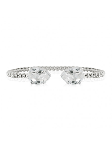 Caroline Svedbom - MINI DROP BRACELET RHODIUM - CRYSTAL