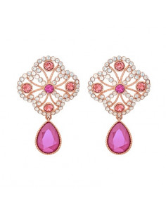 Lola earrings - Peony pink