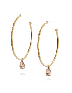 Caroline Svedbom - LOOP EARRING GOLD - VINTAGE ROSE
