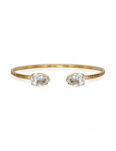 PETITE DROP BRACELET GOLD - CRYSTAL