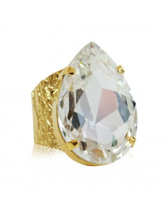 PERFECT DROP RING GOLD - CRYSTAL