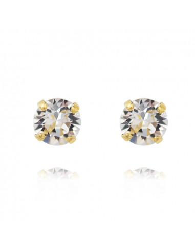 CLASSIC STUD EARRING GOLD - CRYSTAL