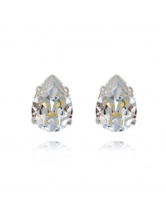 Caroline Svedbom - MINI DROP STUDS RHODIUM - CRYSTAL