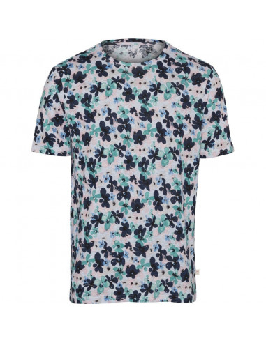 T-shirt with all over waterbased flower print