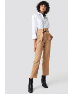 NA-KD - Asymmetric Belted Suit Pants