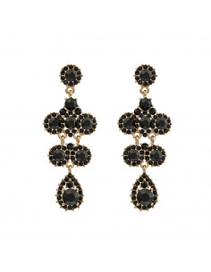 Miss Kate earrings - Jet/Jet