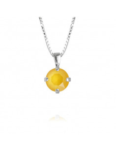Caroline Svedbom - CLASSIC PETITE NECKLACE RHODIUM - BUTTERCUP YELLOW