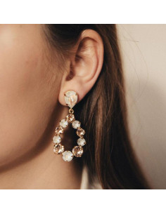 Caroline Svedbom - DELIA EARRING GOLD - LIGHT DELITE/ LIGHT PEACH
