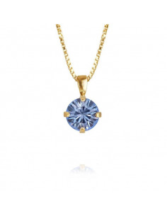 Caroline Svedbom - CLASSIC PETITE NECKLACE GOLD - LIGHT SAPPHIRE