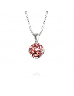 Caroline Svedbom - CLASSIC PETITE NECKLACE RHODIUM - LIGHT ROSE
