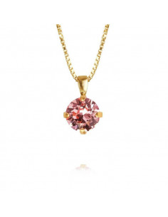 Caroline Svedbom - CLASSIC PETITE NECKLACE GOLD - LIGHT ROSE