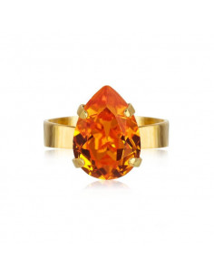 MINI DROP RING GOLD - TANGERINE