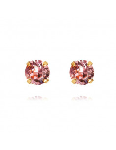 CLASSIC STUD EARRING GOLD - LIGHT ROSE