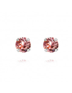 CLASSIC STUD EARRING RHODIUM - LIGHT ROSE