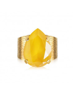 CLASSIC DROP RING GOLD - BUTTERCUP YELLOW