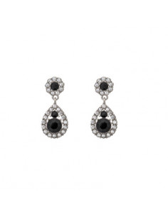 Petite Sofia earrings - Jet (silver)