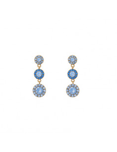 Petite Sienna earrings - Blue rainbow