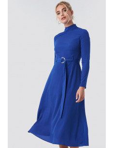 NA-KD - High Neck Belted Maxi Dress