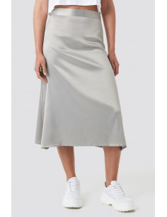 NA-KD - Bias Cut Satin Midi Skirt