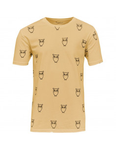 Knowledge Cotton - All Over Big Owl printed tee