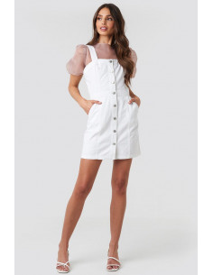 NA-KD - Pinafore Mini Denim dress
