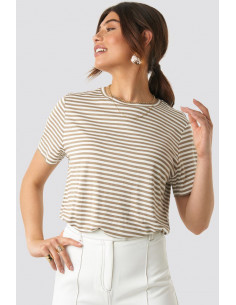 NA-KD - Striped Viscose Tee