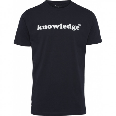 Knowledge Cotton - Knowledge printed O-Neck Tee